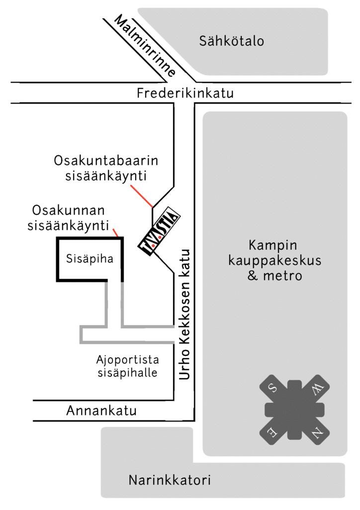 Kartta osakunnalle